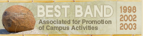 Best Band, Associated for Promotion of Campus Activities for 1998, 2002, 2003